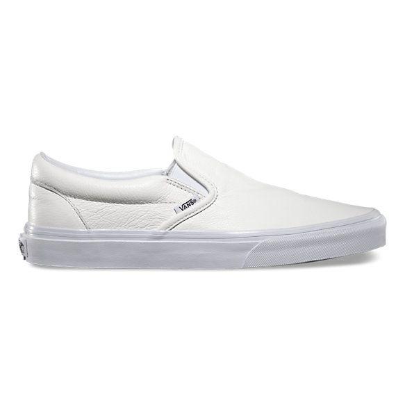 white vans slip ons boys