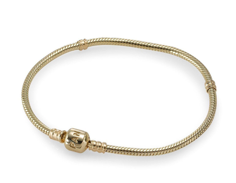 Pandora k gold barrel clasp bracelet different sizes