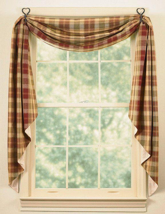 Saffron Lined Fishtail Swag Curtain Swag Curtains Curtain