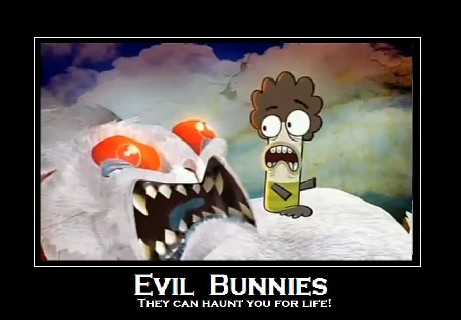 evil bunnies rule the world.