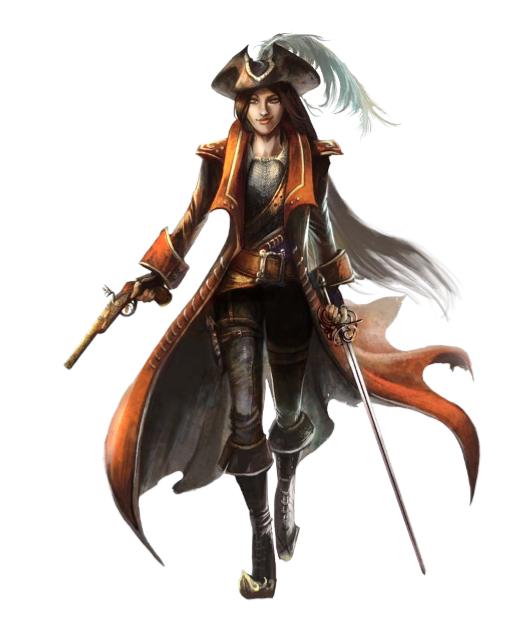 female rogue gunslinger