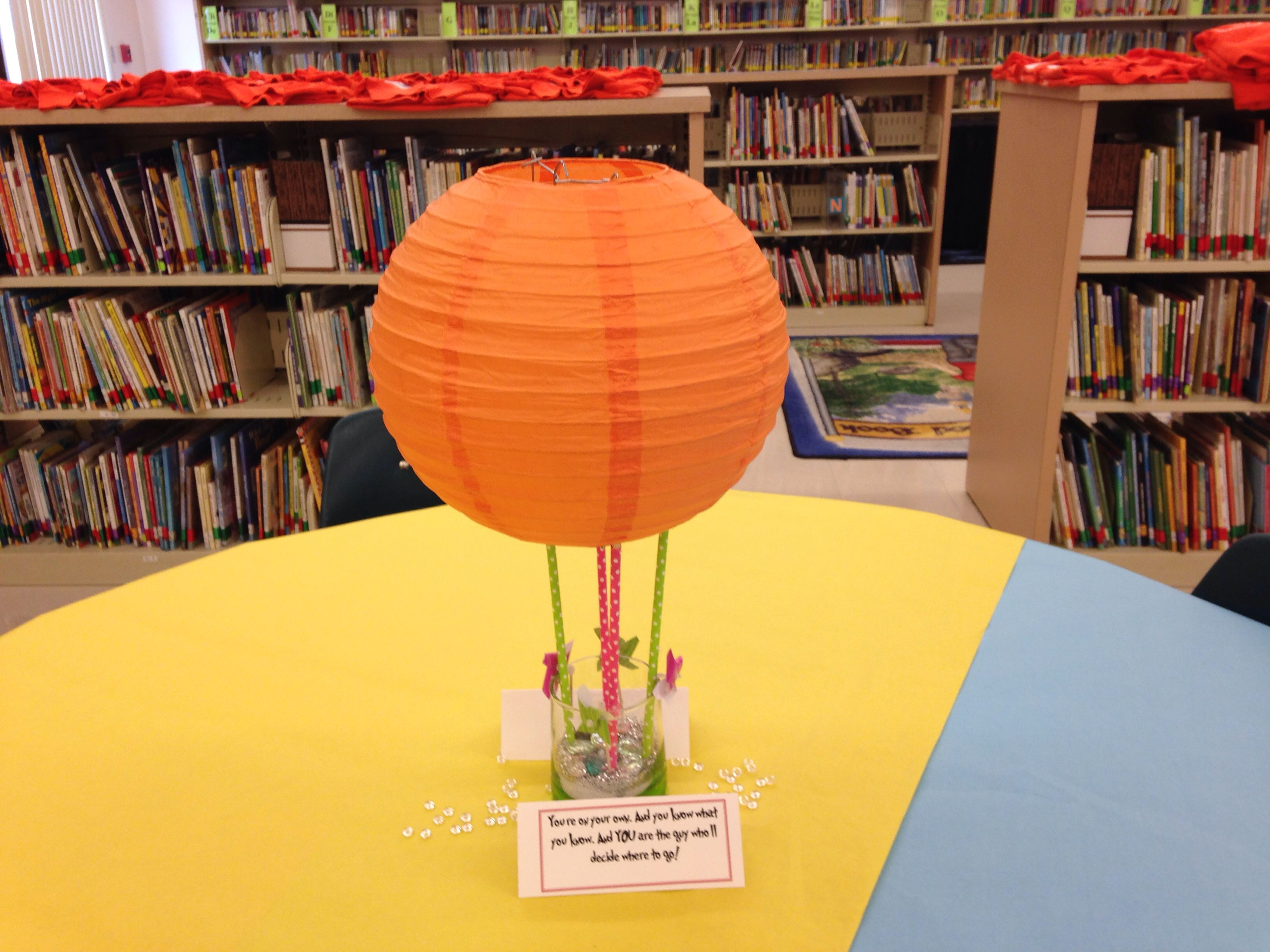 oh the places you ll go centerpiece hot air balloon made with