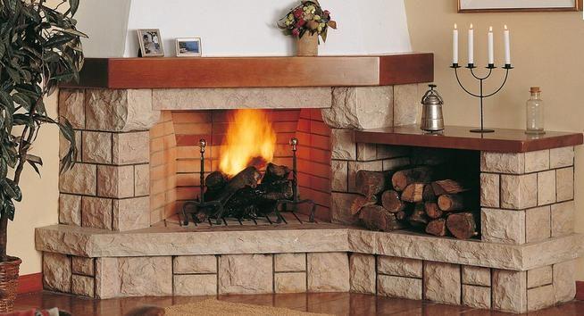 chimeneas esquina rusticas - Buscar con Google Chimeneas, fuego