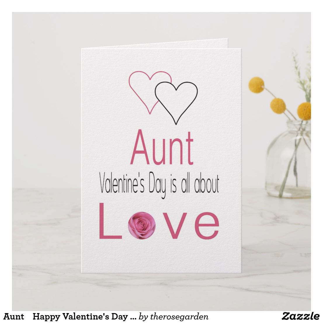 Aunt Happy Valentines Day Roses Holiday Card Zazzlecom N