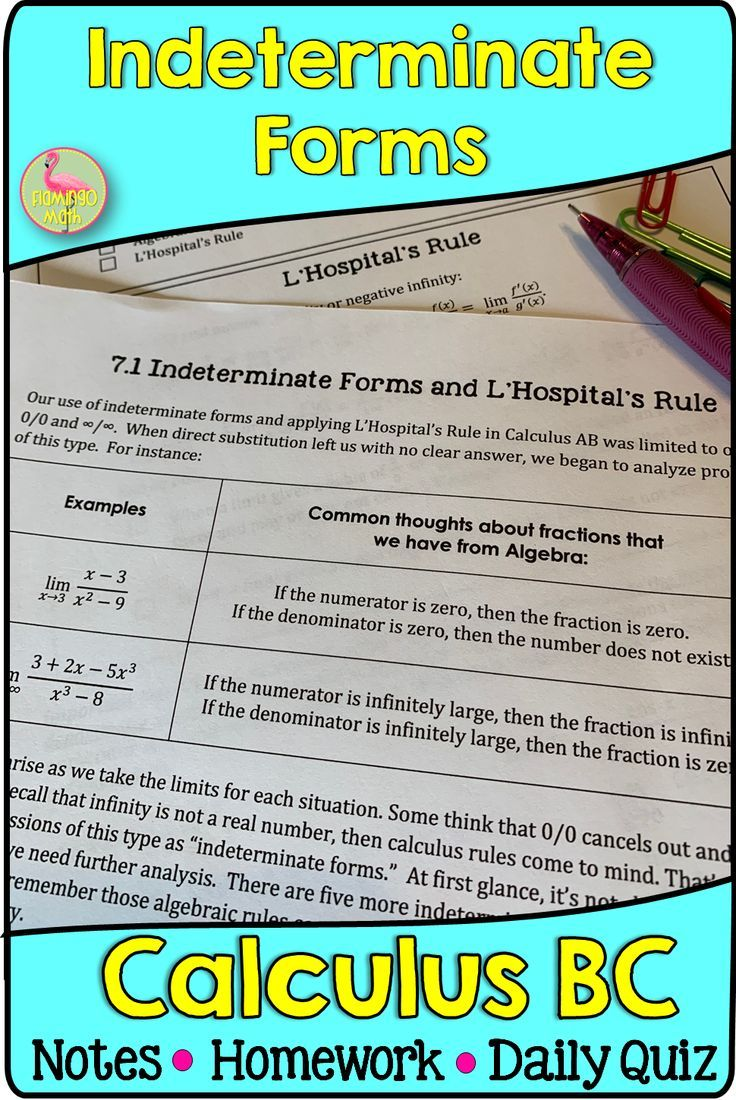 Indeterminate Forms and L'Hospital's Rule (Calculus 2 ...