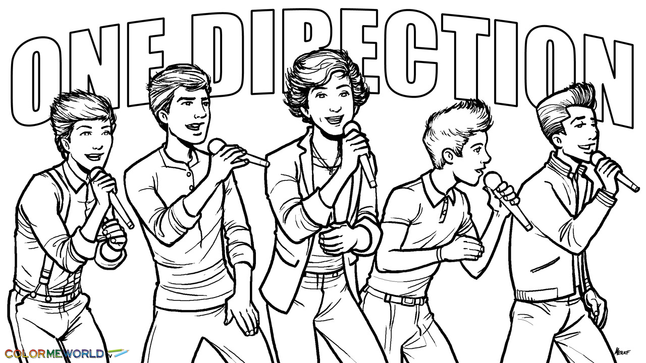 one direction coloring pages for girls One Direction in