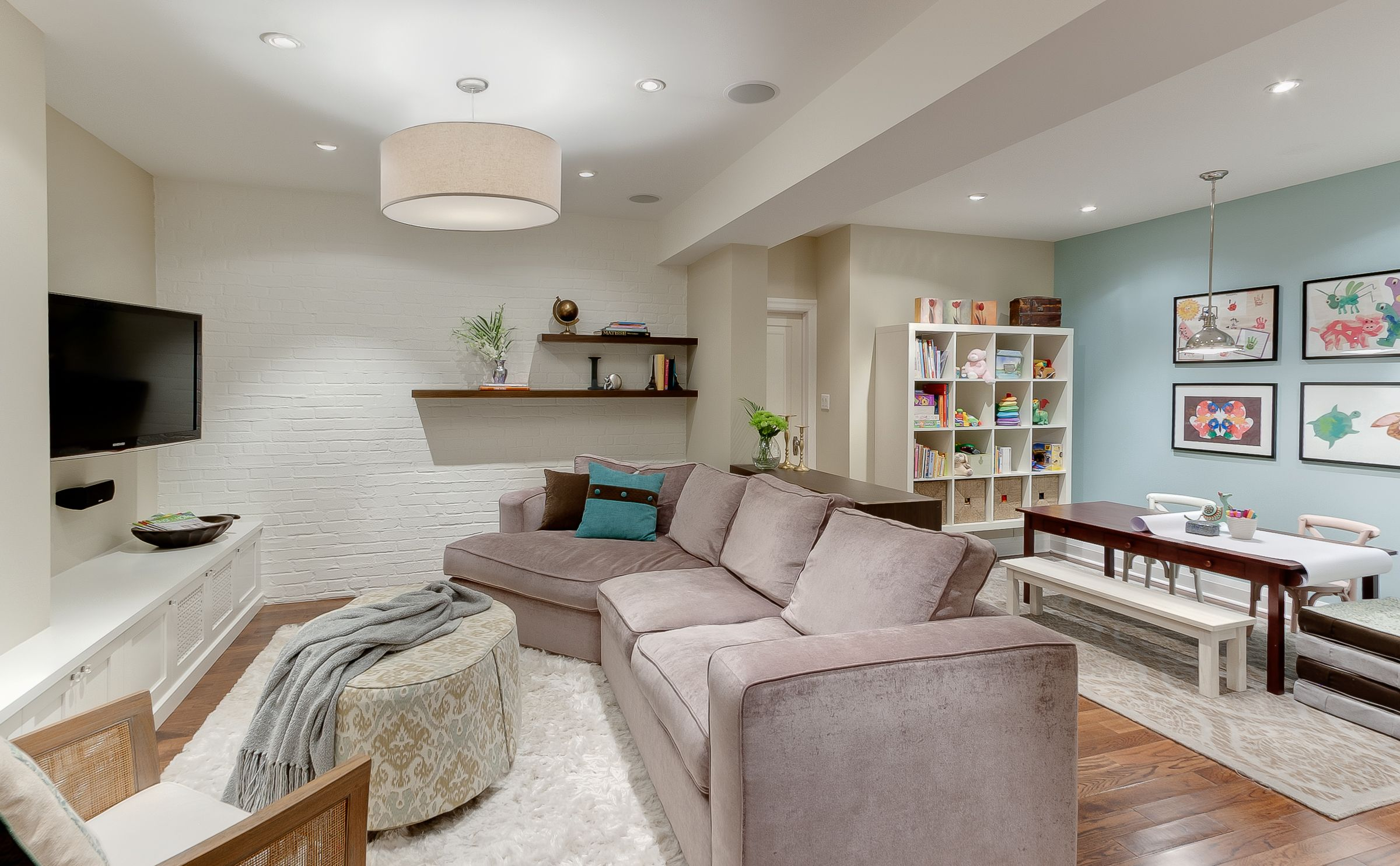 Basement Wall Sconces Part - 22: Use A Mix Of Pot Lights, Wall Sconces And Lamps To Brighten A Basement.