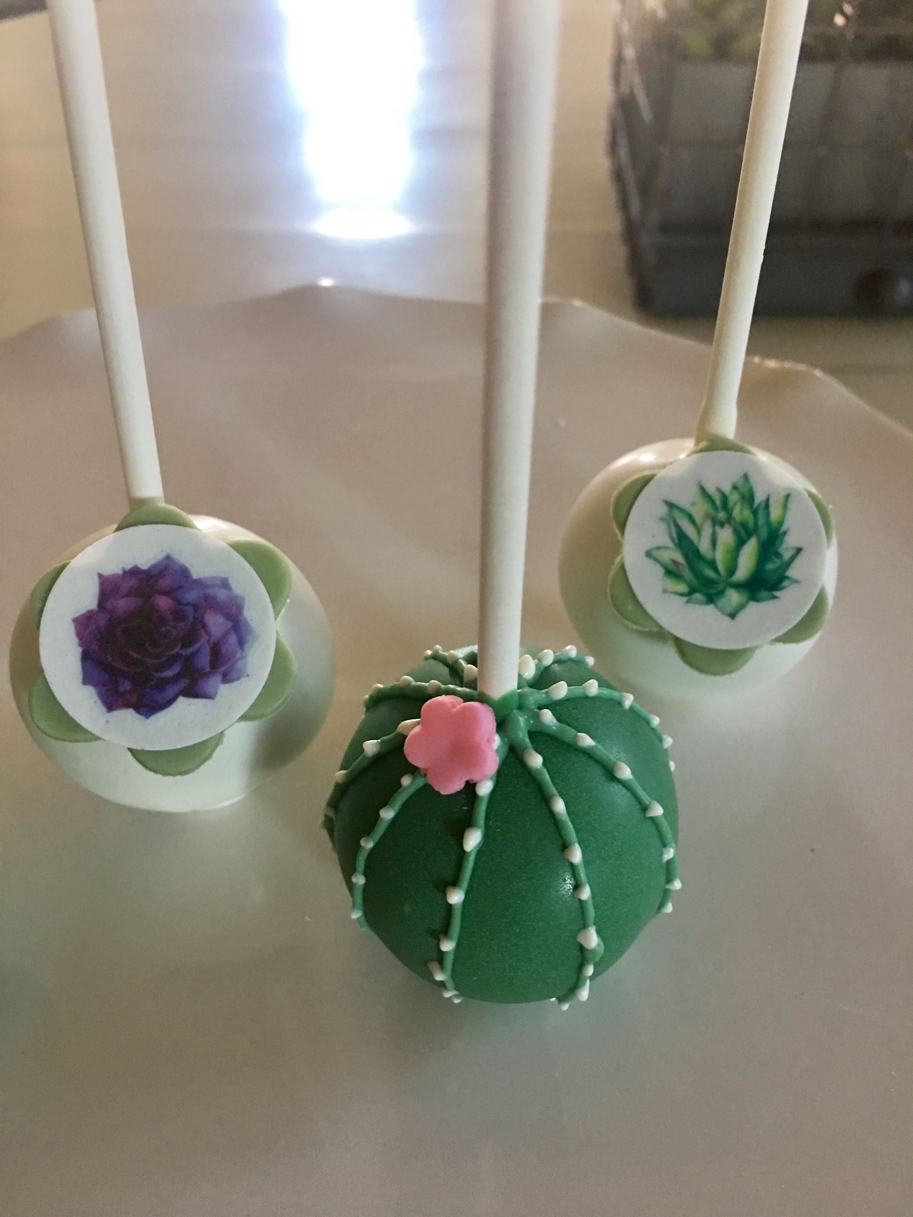Cactus Cake Pops Succulent Cake Cactus Cupcakes Cactus Cake