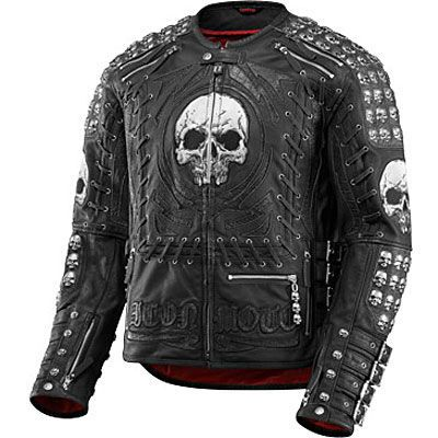 Star Patch Design Mens Short Body Biker Leather Jacket
