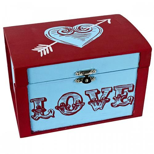 valentine love card box project by decoart decorative painting