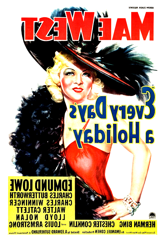 Mae West Every Days A Holiday Home Theater Decor