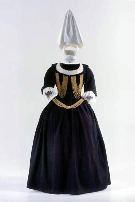 KLEID (DAMEN) DEP-1008.1-11 Kleid (Damen). Zürcher Frauenkleid, für ...