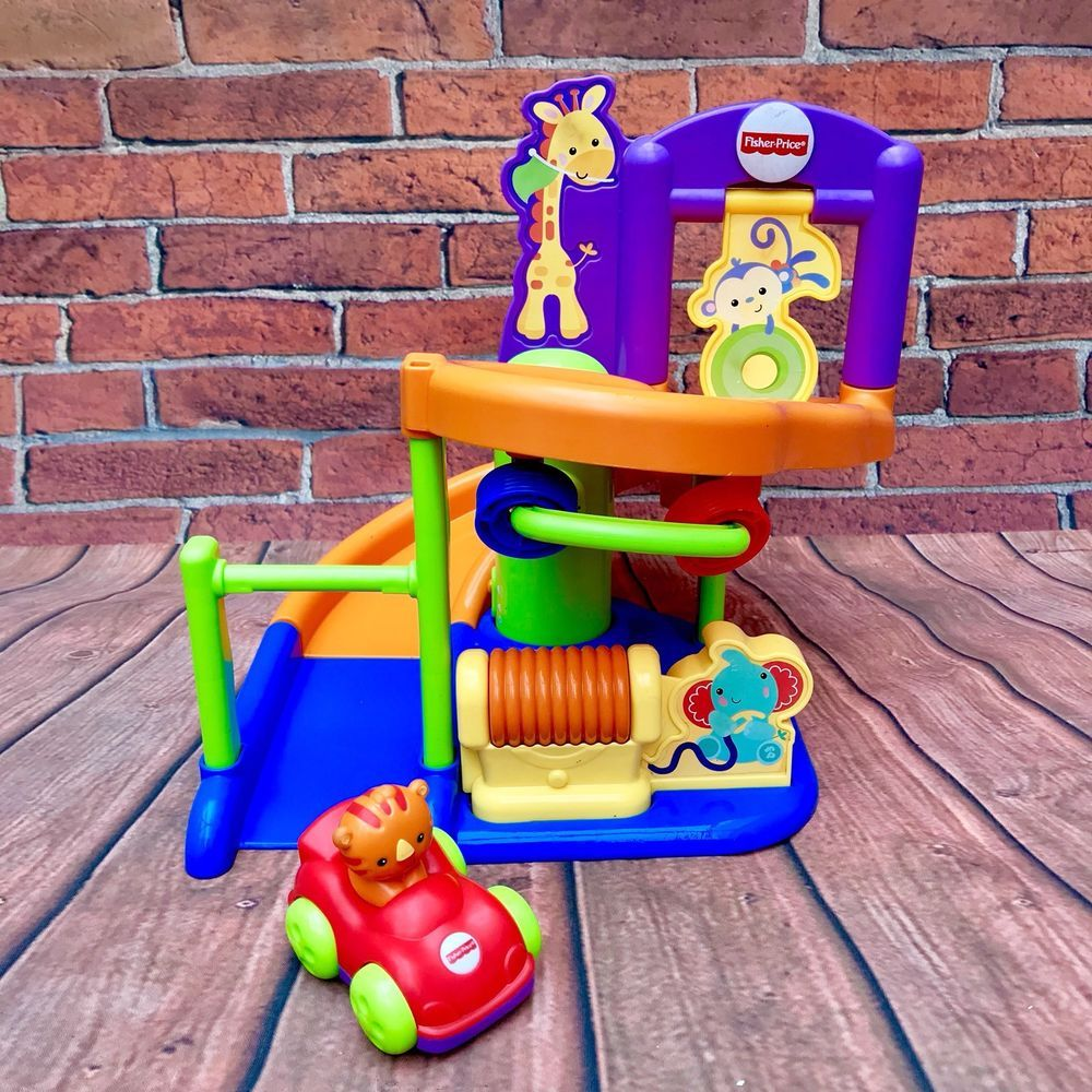 Fisher Price Baby Activities Centre Ramp Car Sounds Animals Tiger Monkey Giraffe