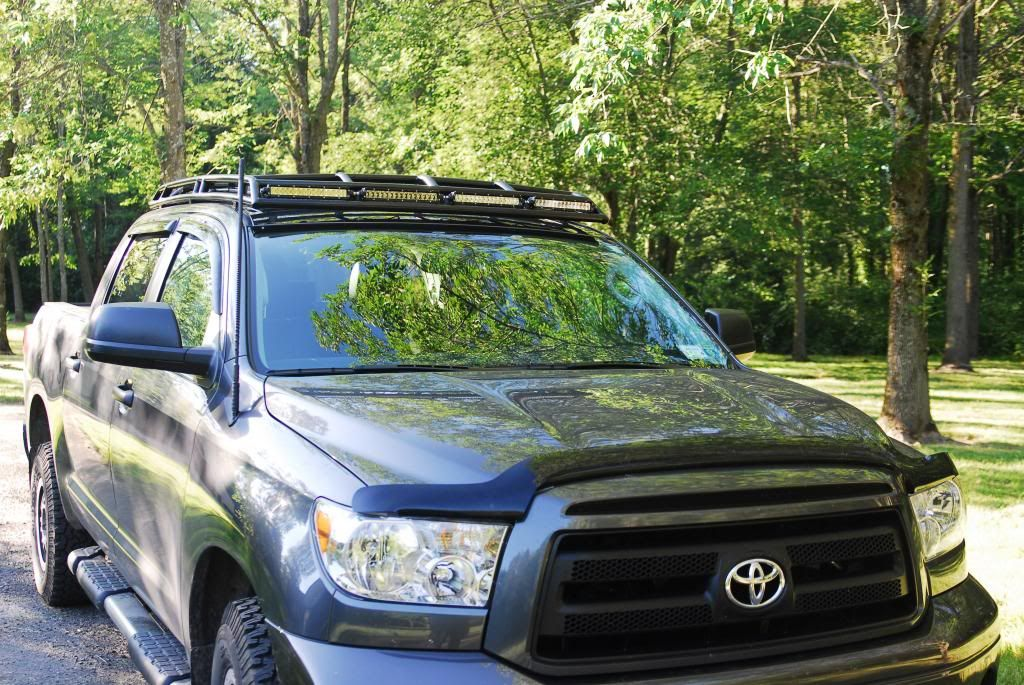 Super Low Profile Roof Rack W Led Lighting Tundratalk Net Toyota Tundra Discussion Forum Roof Rack Patio Roof Roofing
