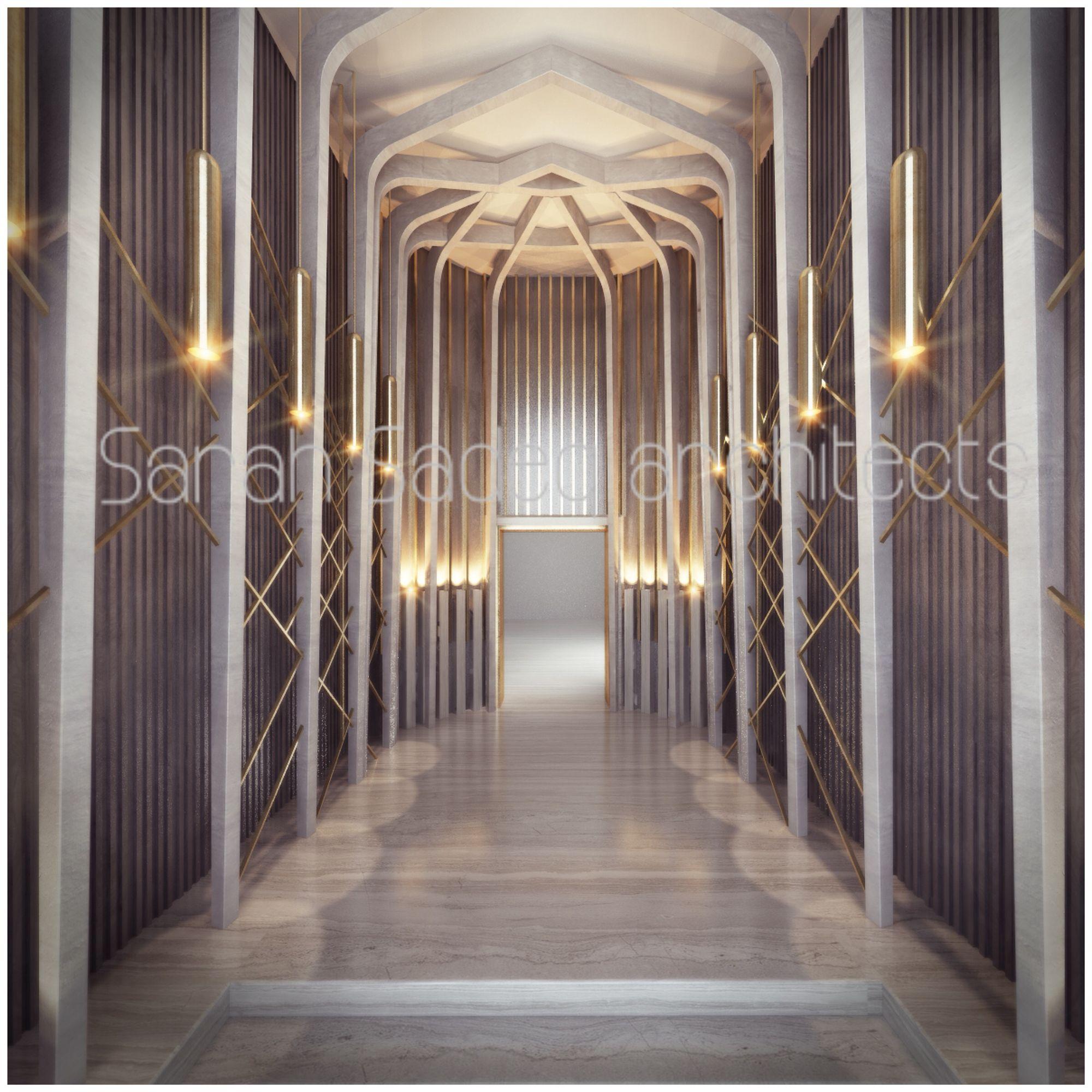 Lobby Private Villa By Sarah Sadeq Architects Kuwait