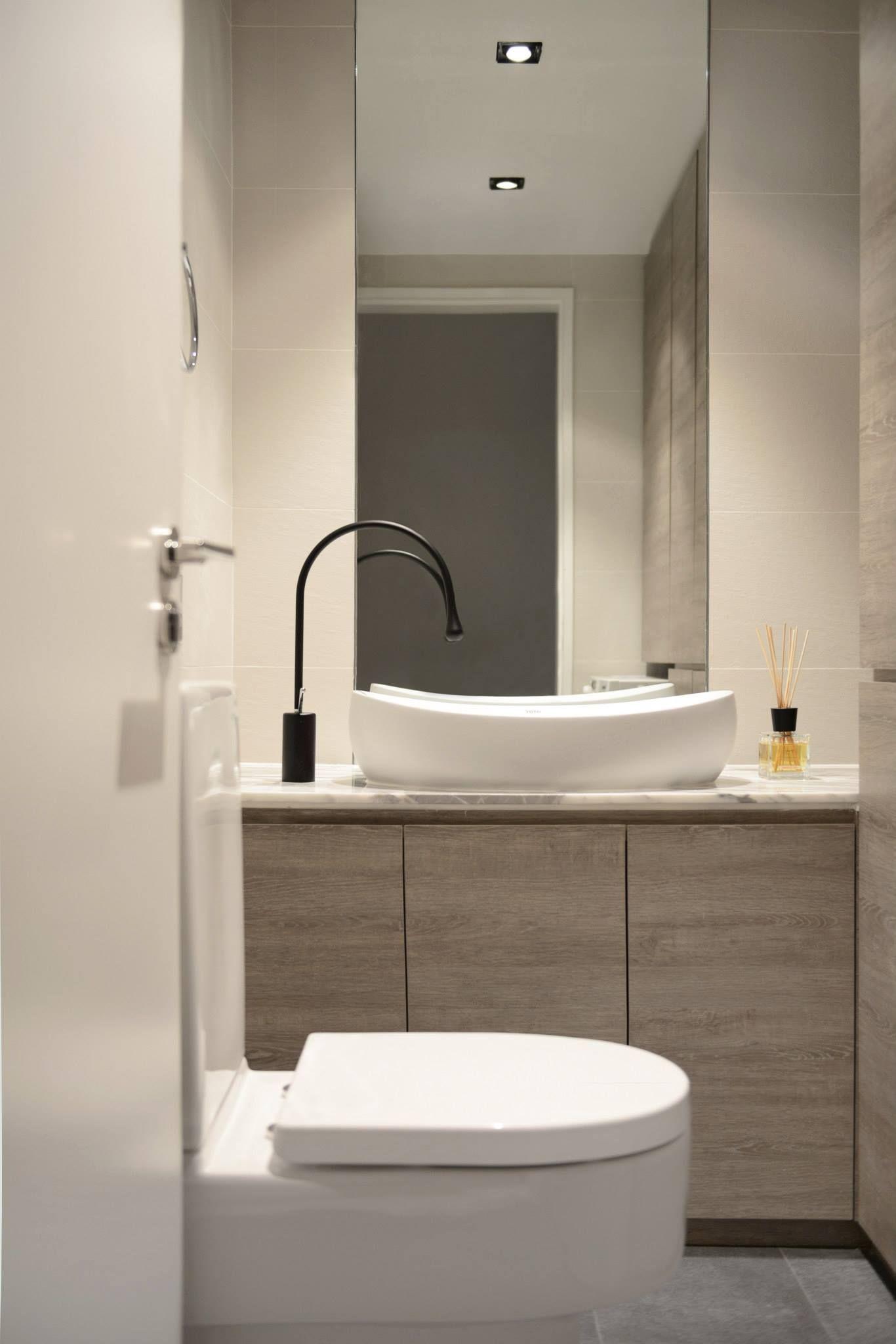 Gjeste toalett classic guest toilet inspirasjon til for Modern guest bathroom ideas