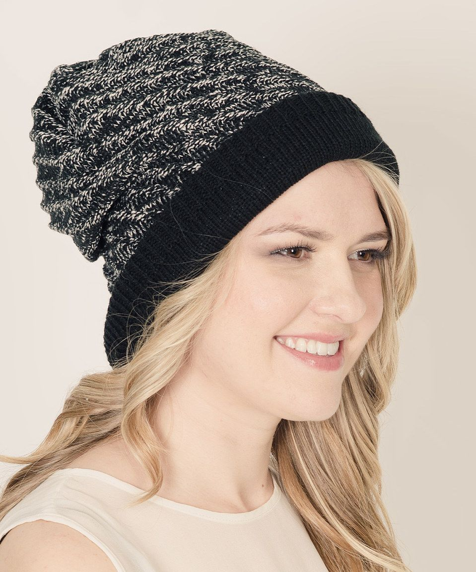 Another great find on #zulily! Stay Warm In Style Black & Gray Reversible Beanie by Stay Warm In Style #zulilyfinds