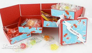 Cute box made with sister stamps