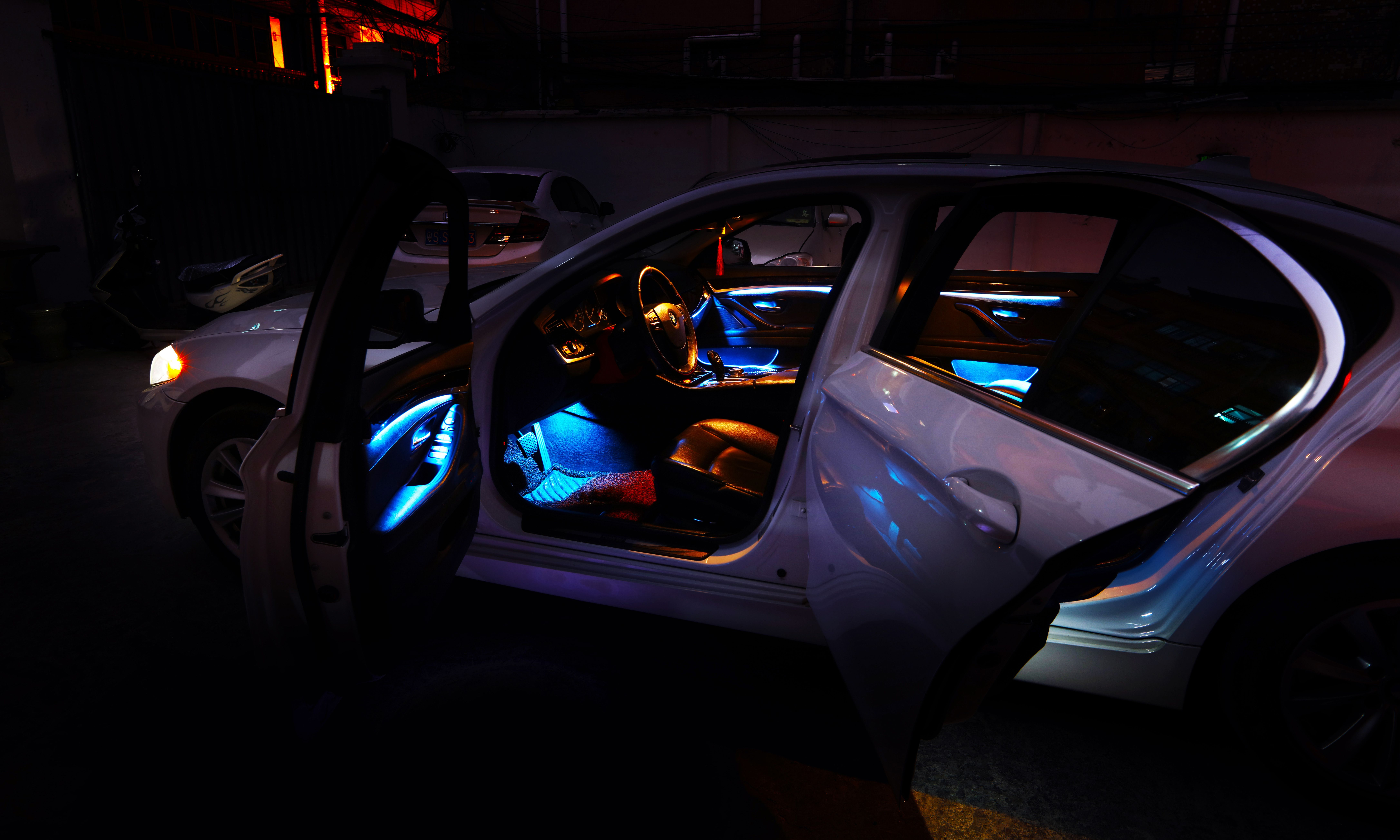 medium resolution of bmw led ambient lighting of f10