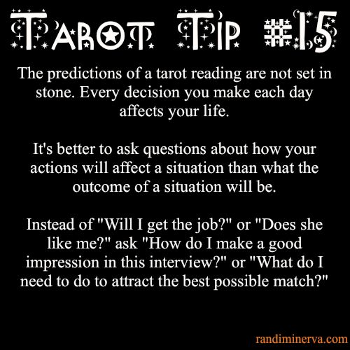 Tarot Tip #15: Destiny, Outcome, Predictions My FAVORITE Tarot Tip so far.  Seriously.  This is important!
