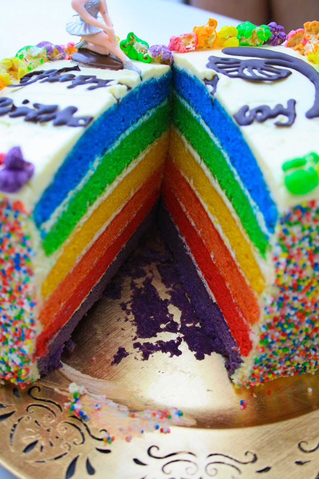 how to make cake colors bright: substitute half liquid for yogurt ...