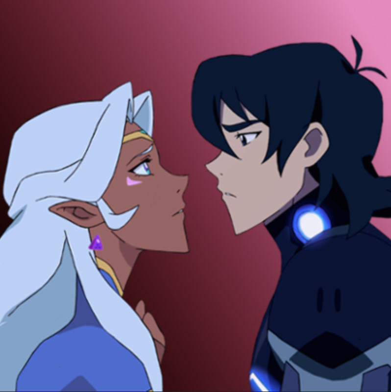 The Princess and the Galra Warrior in love- Allura and Keith from