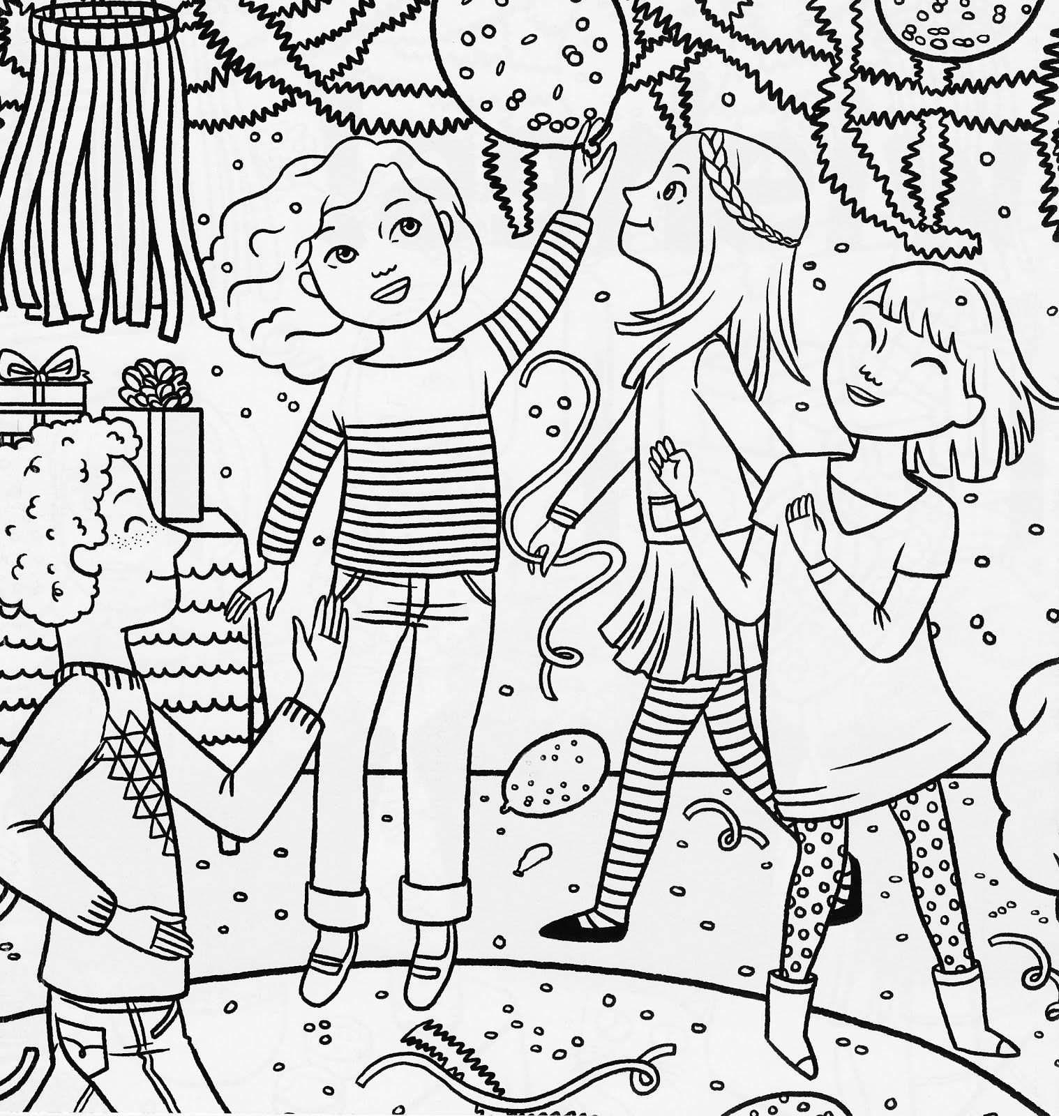American Girl Magazine Special Birthday Coloring Page