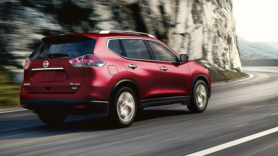 Nissan Rogue® SL AWD shown in Cayenne Red with optional