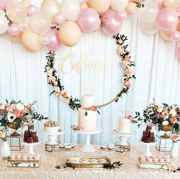 """Tammy Pinhirun Mendoza on Instagram: """"Celine in this gorgeous set up by @whiteblossomevents is just making our Monday 🤩🤩🤩 Cakes + Desserts ... - #awhiteblossomevents #celine #gorgeous #instagram #mendoza #pinhirun #tammy - #balloondecorationdiy"""