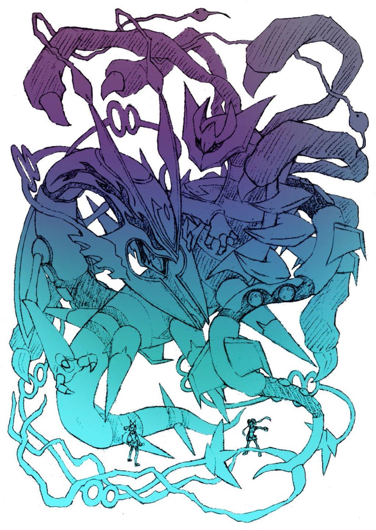 怪獣グルト — ギラティナとレックウザ | แฟนพันธุ์แท้ | pinterest
