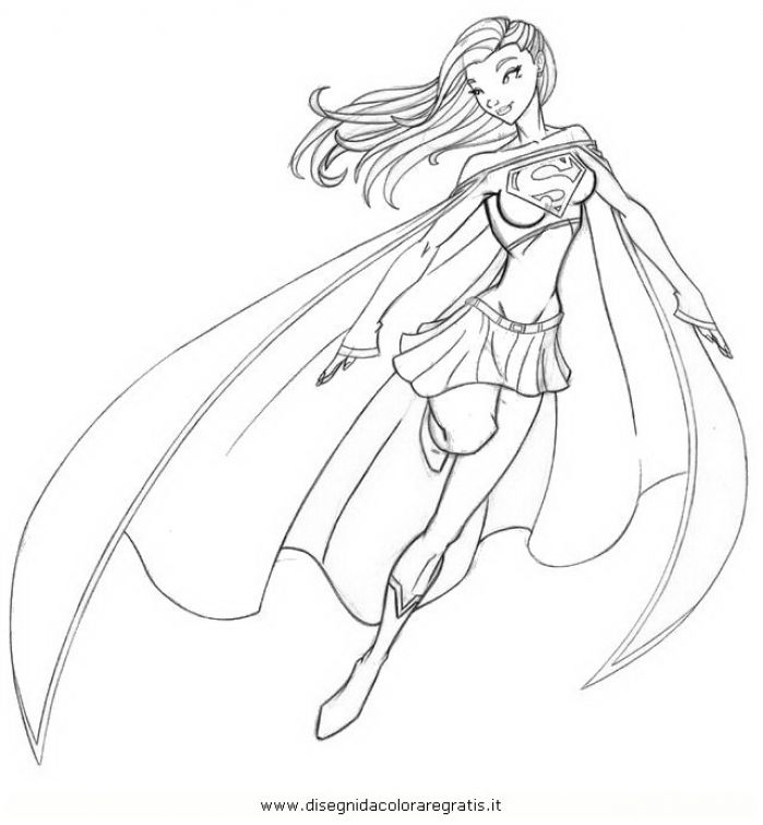 free supergirl coloring page to print out superheroes