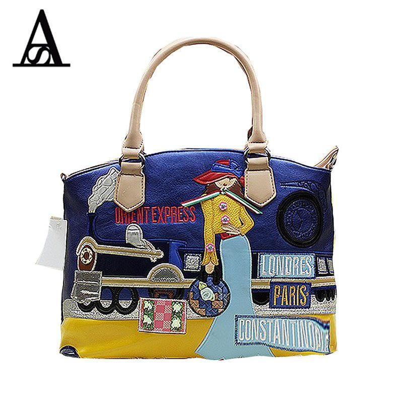 931f487d0108 Aitesen New Braccialini Bag Bolsas Fashion girl Paris Pu Leather Ladies  Handbags Car Lady Style Women Messenger Bag Handbag Tote   Price   80.48    FREE ...