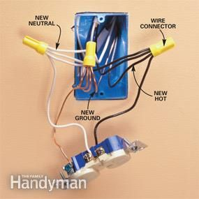 Add An Electrical Outlet Electrical Outlets Home Electrical
