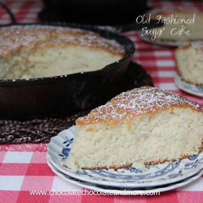 Old Fashioned Sugar Cake @keyingredient #cake #cheese #casserole