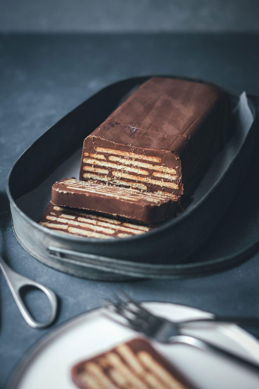 Kalter Hund – klassischer Schoko-Kekskuchen