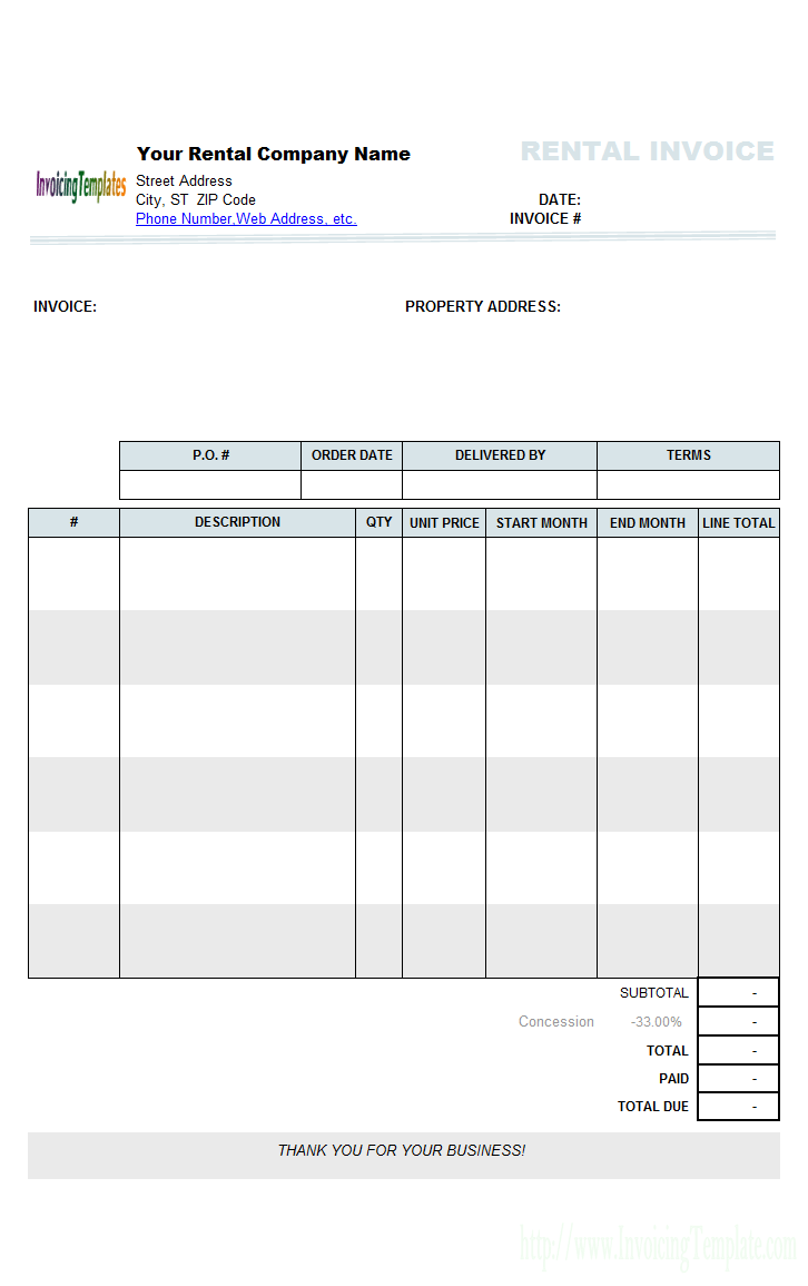 invoice template south africa