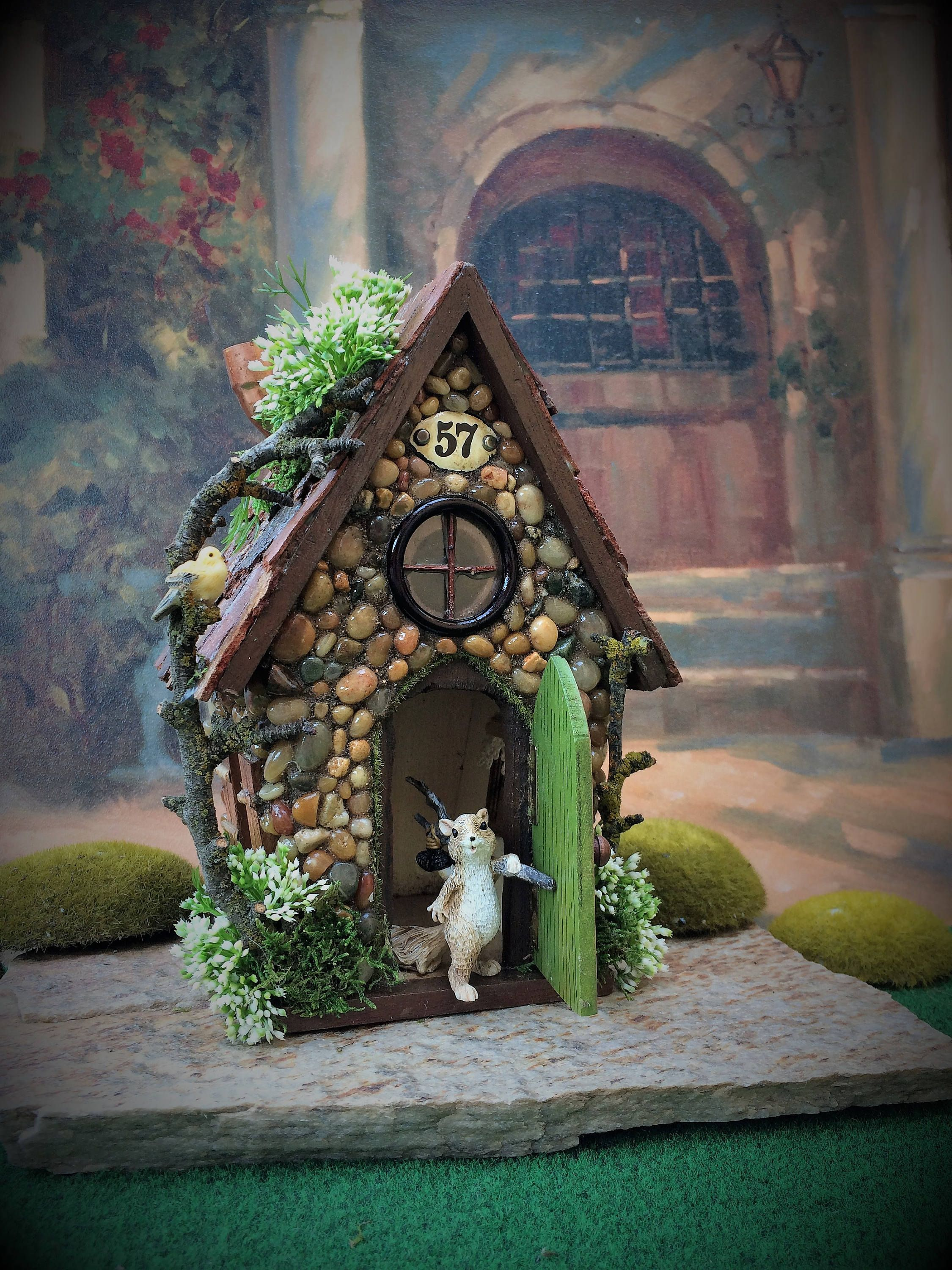 Solar Fairy House Garden Outdoor By Thehealersgarden On Etsy