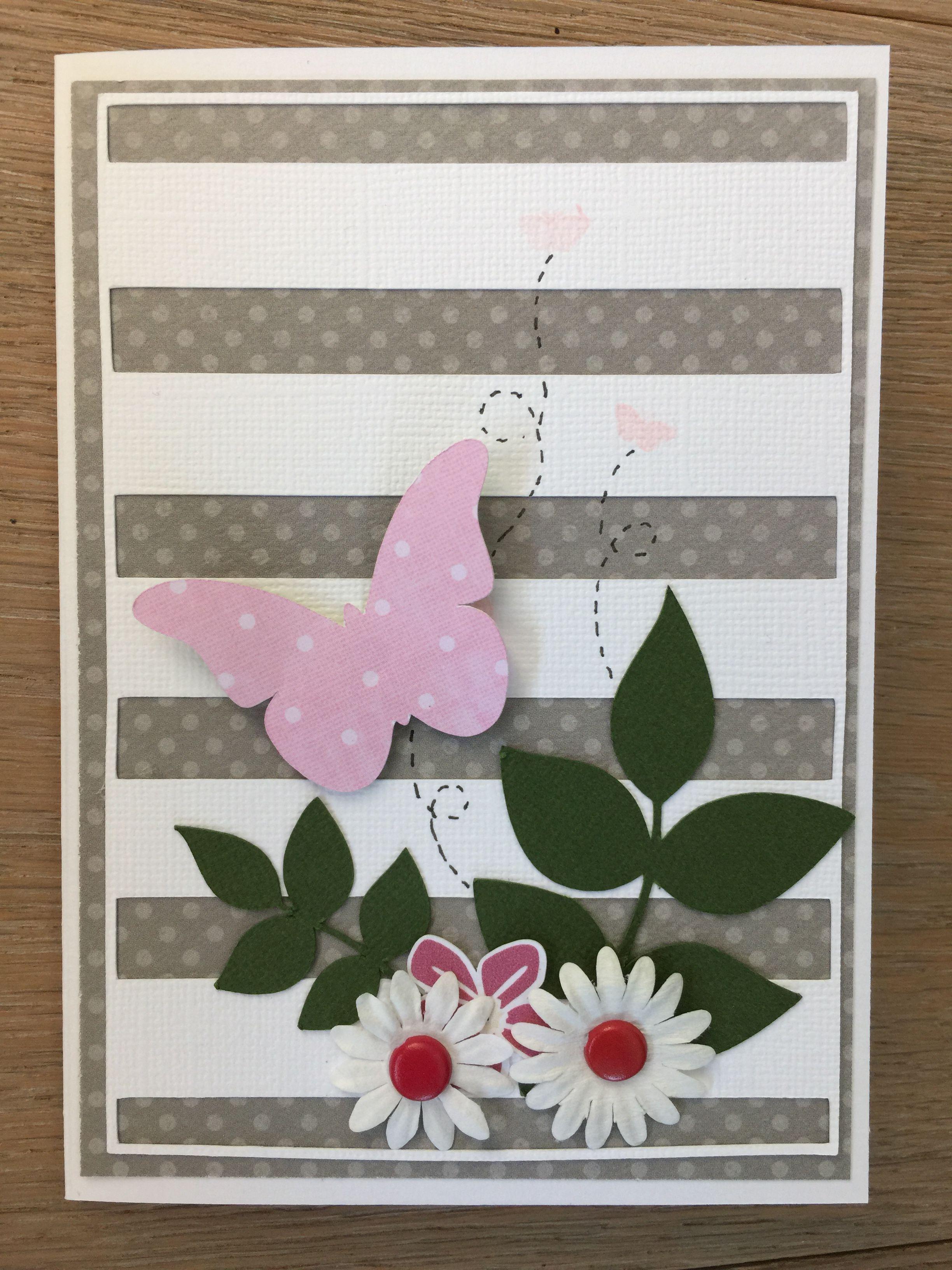 Summer card flowers and butterflies Création de latelier124.ch