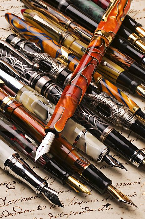 2e261fa9edd Assorted Fountain Pens by Garry Gay. Canetas TinteiroCaneta PenaCaneta Bico  ...