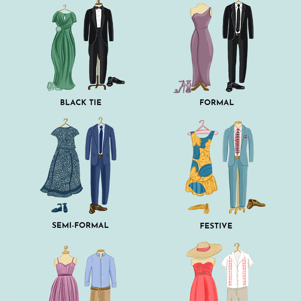 Every Wedding Guest Dress Code Explained Formal Wedding Guest Dress Dress Code Wedding Casual Wedding Guest Dresses [ 1000 x 1000 Pixel ]