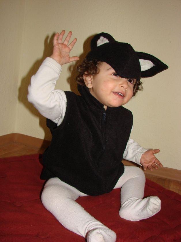 Halloweenkostüme - Kinderkostüm dreimal schwarzer Kater - ein Designerstück von ekamaus bei DaWanda