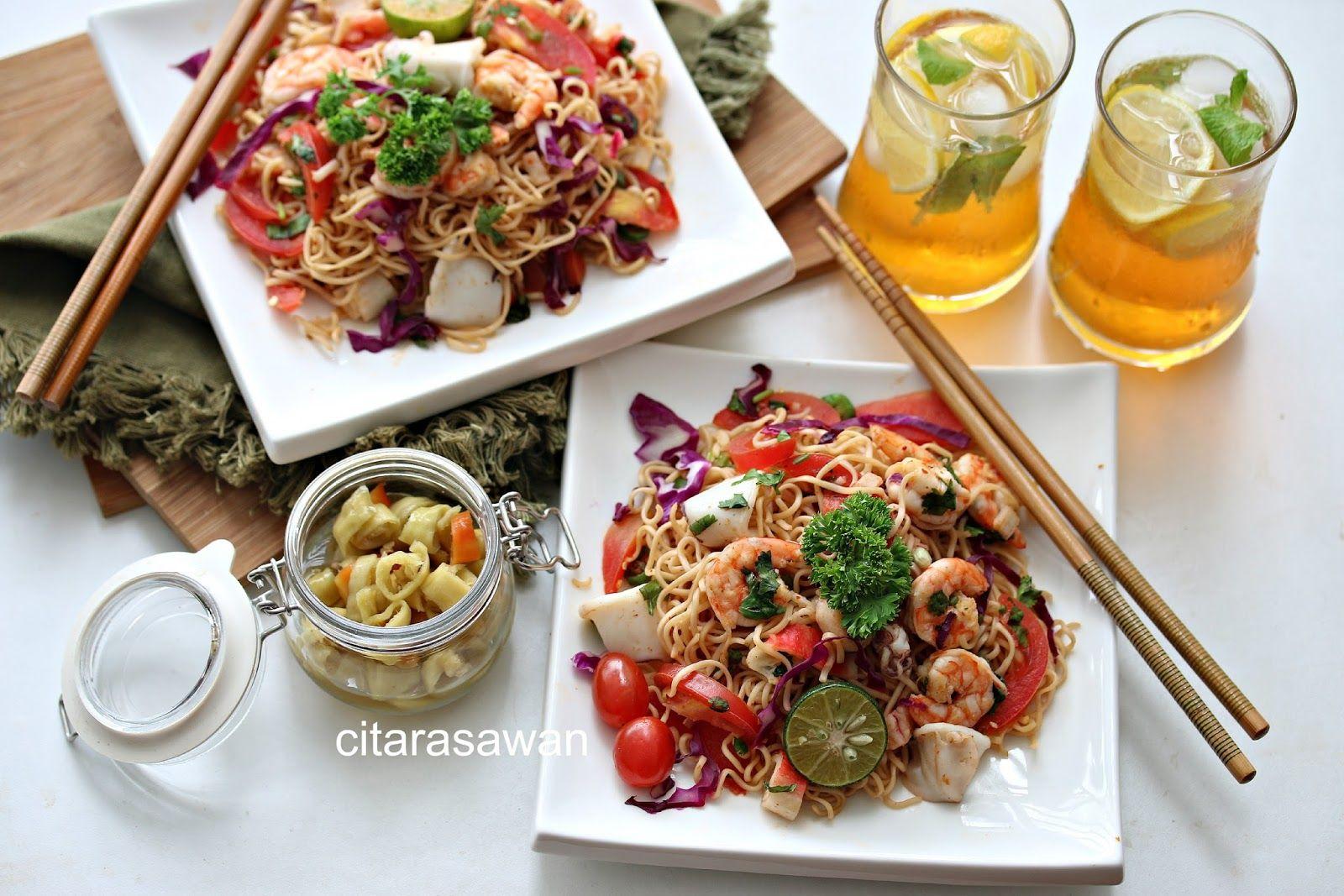 Kerabu Maggi Thai Resepi Terbaik Makanan Makanan Sehat Resep Makanan