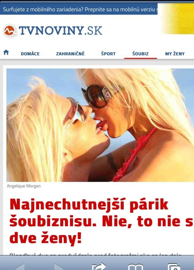Daniel DiCriscio and Angelique Frenchy Morgan in Slovakian Celeb News Press