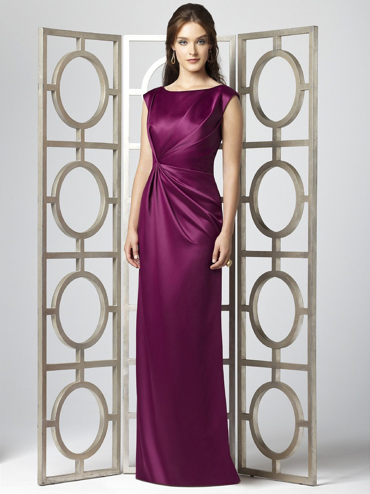 Cap sleeve merlot satin long bridesmaid dress with draped detail cap sleeve merlot satin long bridesmaid dress with ombrellifo Image collections