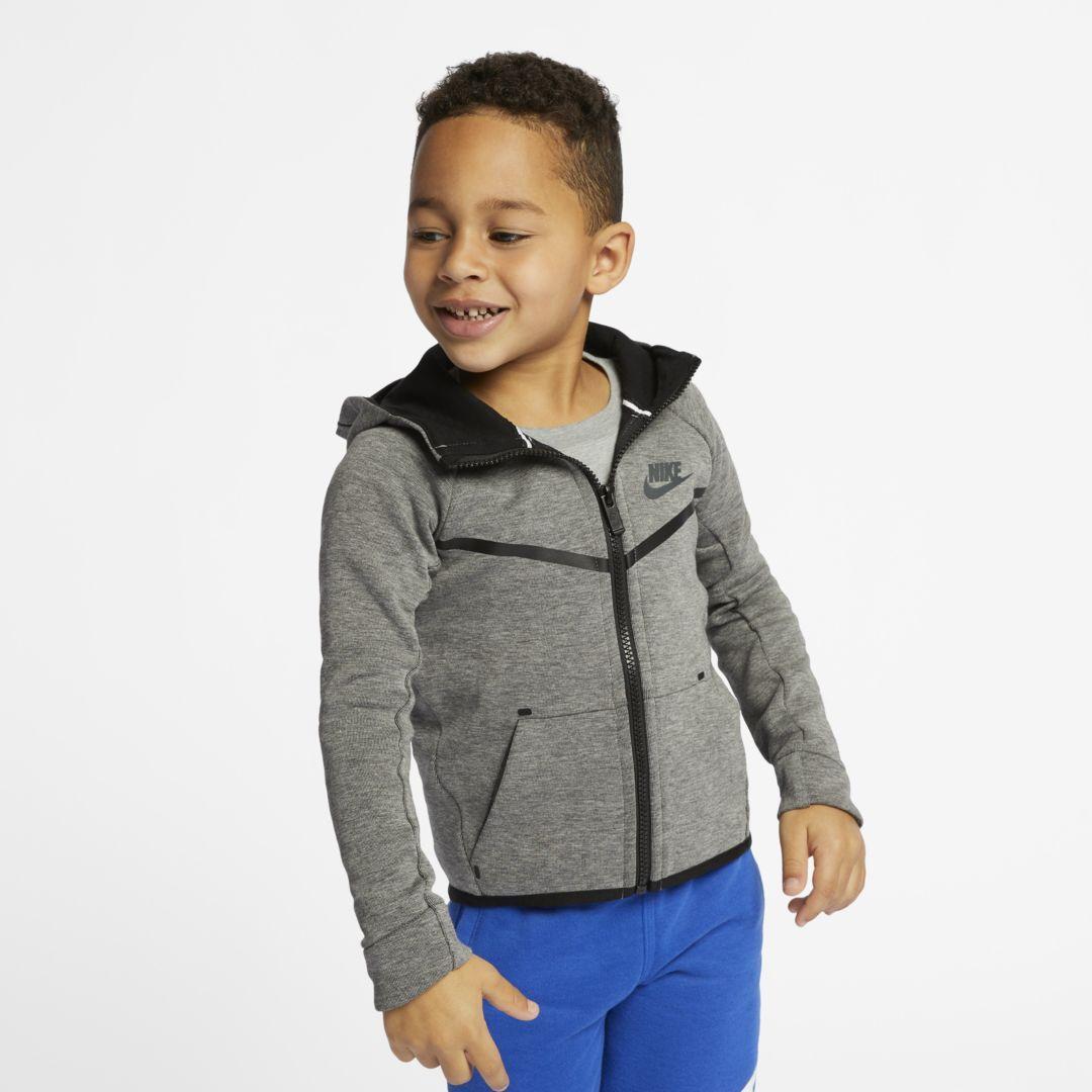 896a26bc6681 Nike Sportswear Tech Fleece Little Kids  (Boys ) Hoodie Size 7 (Carbon  Heather)