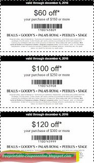 image relating to Goody Printable Coupons named Cost-free Printable Bealls Discount codes Free of charge Printable Discount codes July