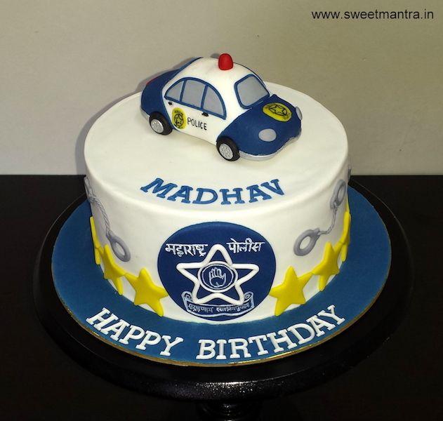 Cop Car Cake Topper