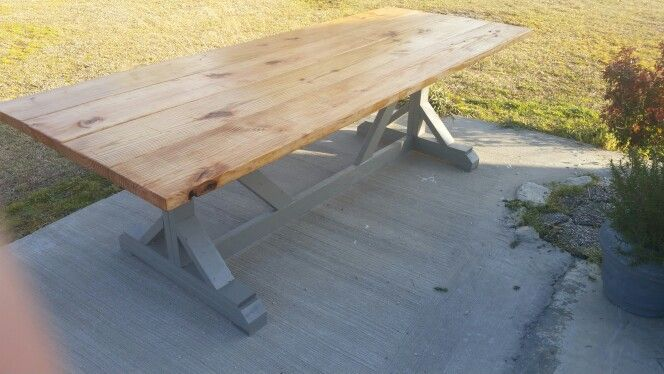 Farmhouse table. This table only cost 65 dollars and 2 days of labor.