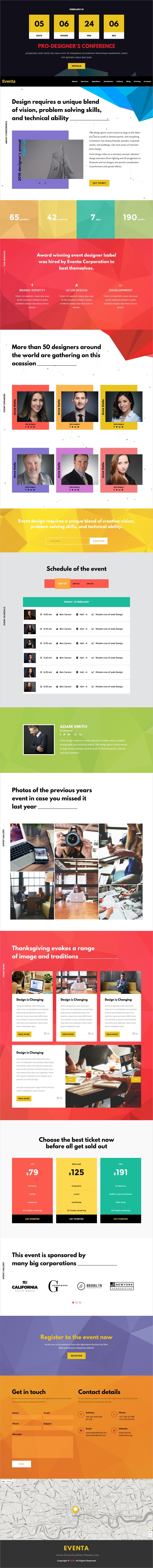 Eventa  One Page Event Html Template  Template And Event Agency