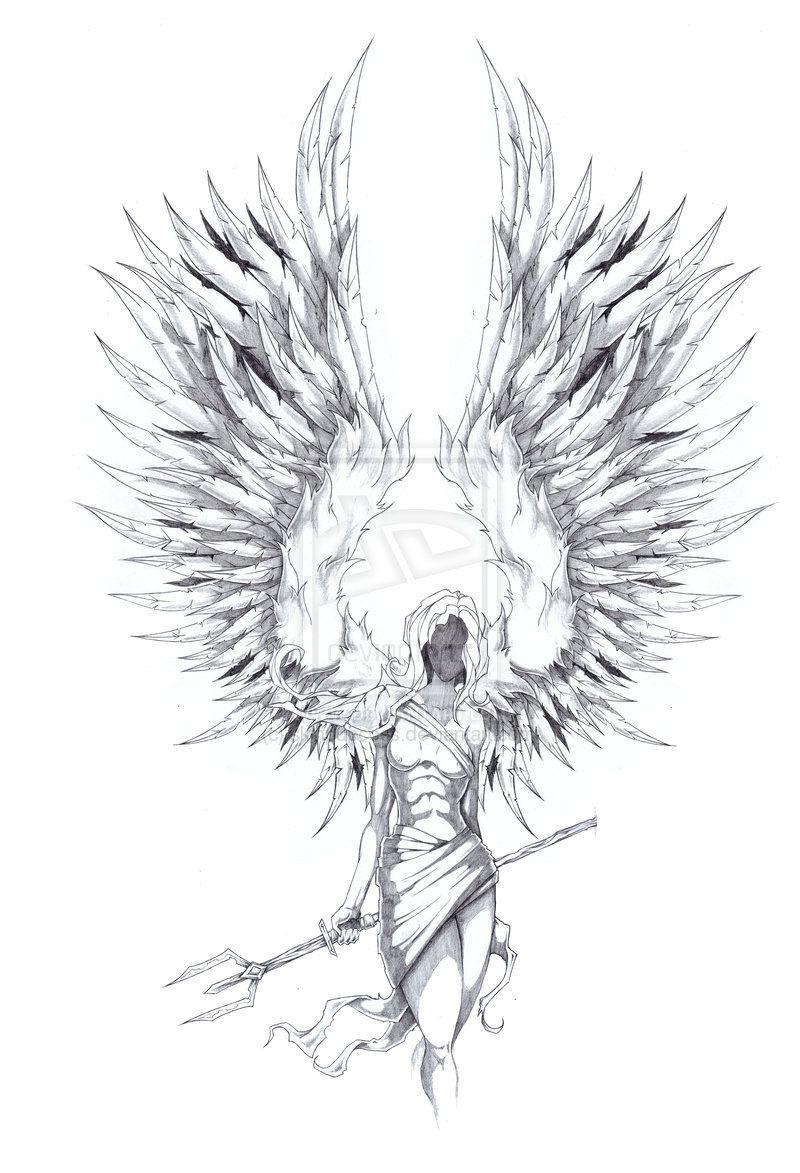 Dessin tatouage ange gardien hz6re3zs tatouage dessin - Dessin d ange gardien ...